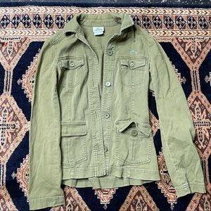 lacoste green military jacket